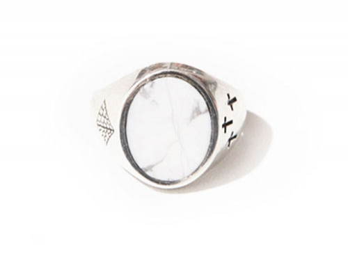 CONTACT RING 2 (howlite)