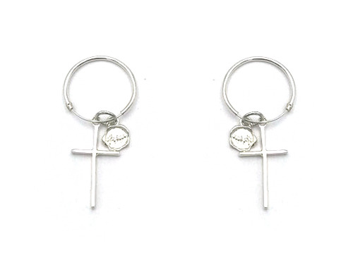 CROSS DROP EARRING