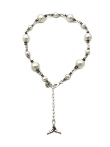 DOLPHIN&PEARLS NECKLACE