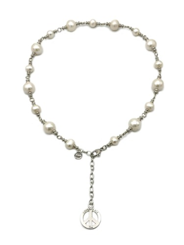 PEACE&PEARLS NECKLACE